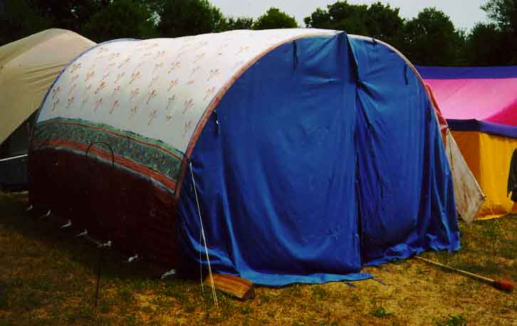 Standing Hoops Photo of semi-cylindrical tent at Pennsic & A Sorta Taxonomy of Pavilions