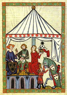 A Circular Tent From The Manesse Codex