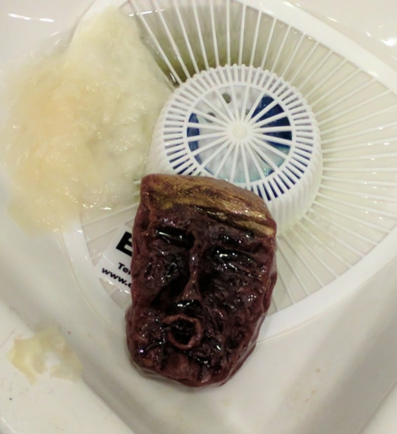 soap cake sculpted as Donald Trump's face